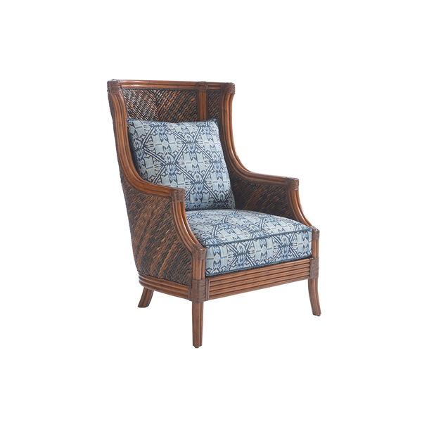 Bali Hai Brown and Blue Rum Beach Chair, image 1