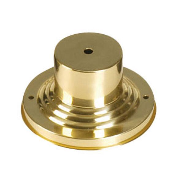 Polished Brass Outdoor Pier Mount Adaptors, image 1