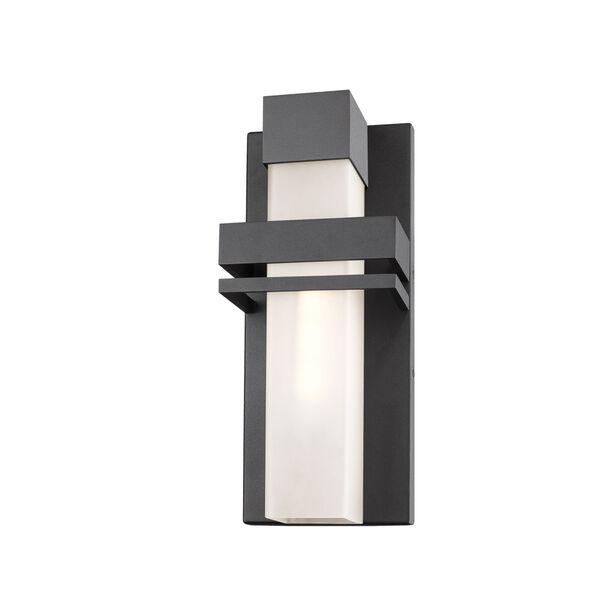 Camden Black LED Outdoor Wall Light, image 1
