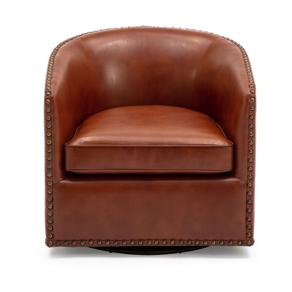 Tyler Caramel Swivel Arm Chair, image 3