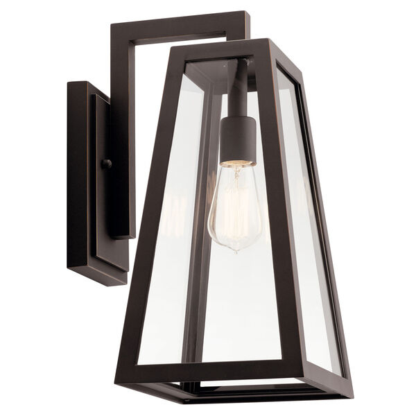 Delison Rubbed Bronze 10-Inch One-Light Outdoor Wall Sconce, image 1