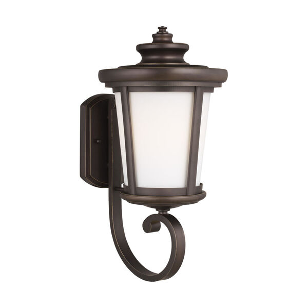 Eddington Antique Bronze One-Light Outdoor Wall Sconce with Cased Opal Etched Shade Energy Star, image 2