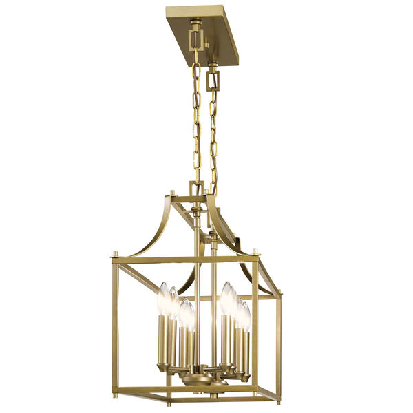 Morrigan Natural Brass 19-Inch Eight-Light Chandelier, image 2