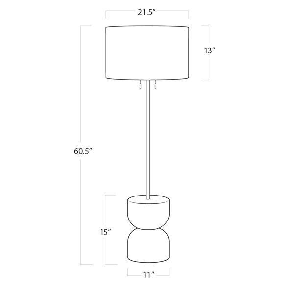 Bruno White Two-Light Floor Lamp, image 5