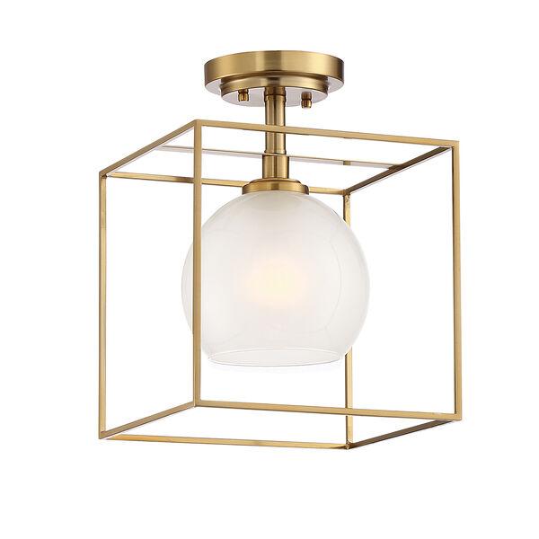Cowen Brushed Gold One-Light Semi-Flush, image 1