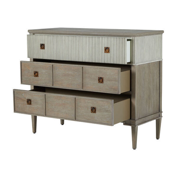 Winslet Sesame White and Cerused Gray Chest, image 2
