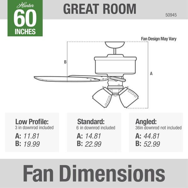 Grantham Matte Silver 60-Inch Ceiling Fan, image 5