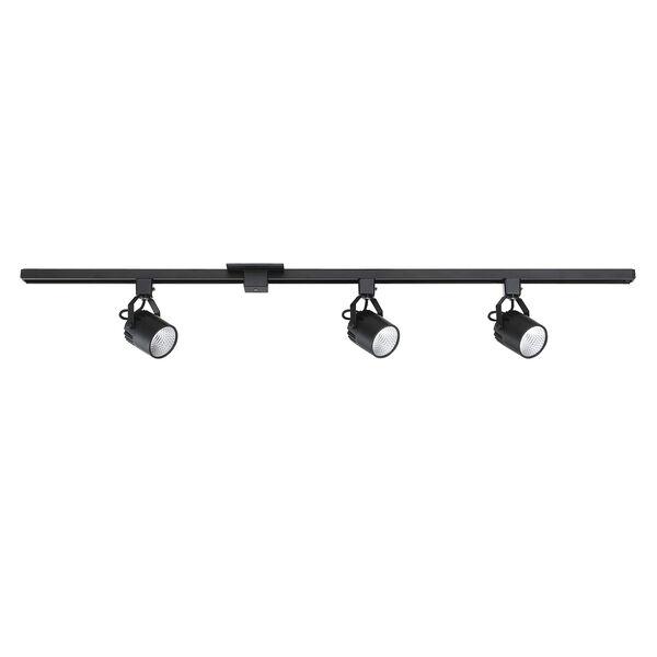 Black Three-Light LED Track Light Kit, image 1