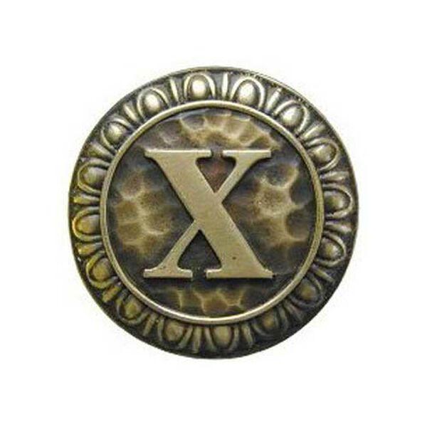 Antique Brass 'X' Knob , image 1