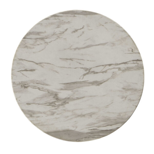Danica White Faux Marble Coffee Table, image 4