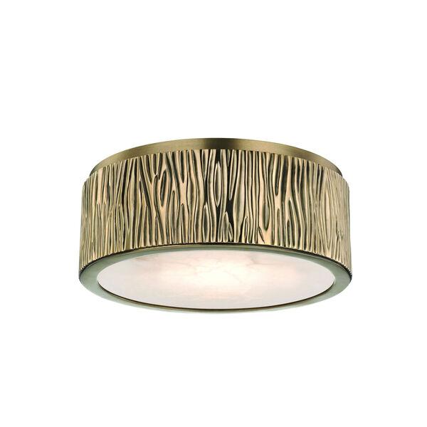 Crispin Aged Brass Nine-Inch LED Flush Mount, image 1