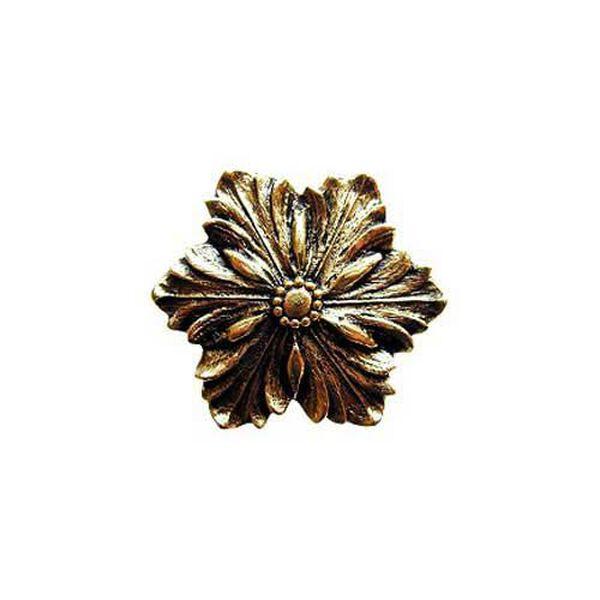 Brite Brass Opulent Flower Knob, image 1