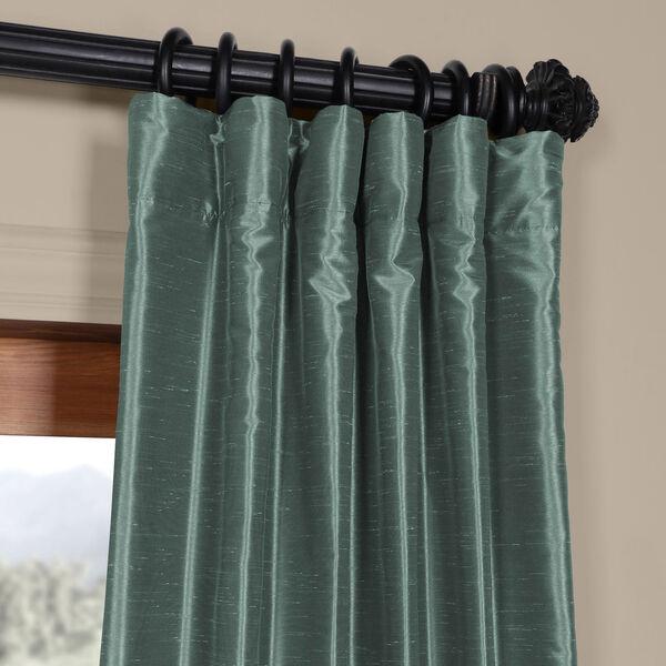 Teal 84 x 50 In. Faux Dupioni Silk Single Panel Curtain, image 2
