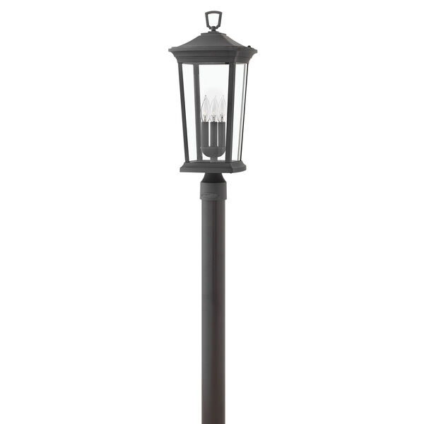 Bromley Museum Black 10-Inch Three-Light Outdoor Post Top and Pier Mount, image 1