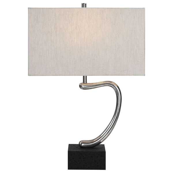 Ezden Silver and Black One-Light Table Lamp, image 1