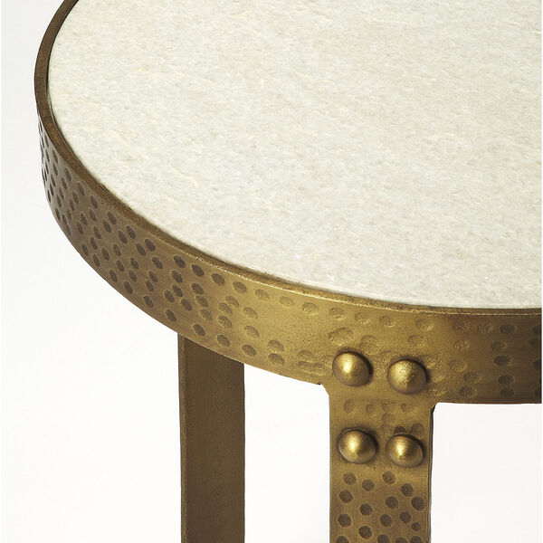 Butler Loft Marble and Metal Elton End Table, image 2