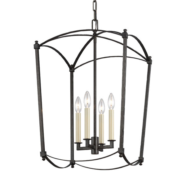 Thayer Smith Steel Four-Light Chandelier, image 4