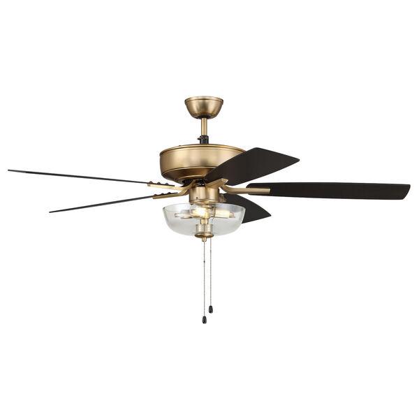 Pro Plus Satin Brass 52-Inch Two-Light Ceiling Fan, image 5