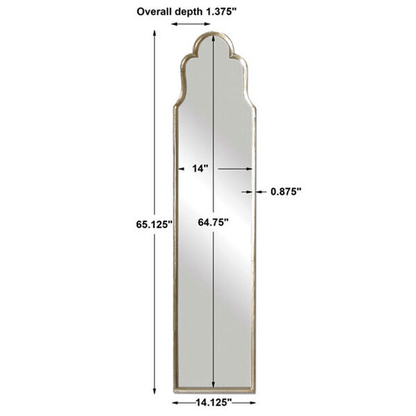 Kenwood Silver Arched Floor Mirror, image 5