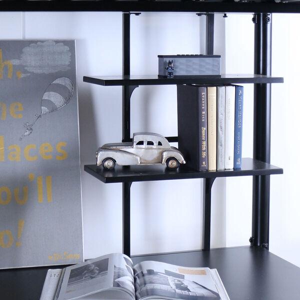 Black Metal Full Loft Bed with Workstation, image 4