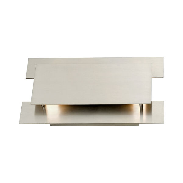 Varick Brushed Nickel Eight-Inch Two-Light ADA Wall Sconce with Brushed Nickel Metal Shade, image 3
