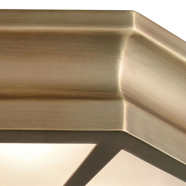 Windsor Classic Brass 16-Inch Three-Light Flush Mount, image 4