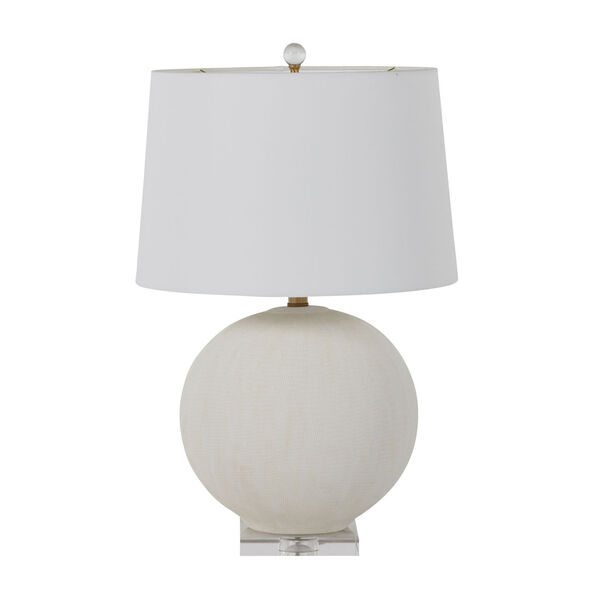 Wheeler White and Antique Brass One-Light Table Lamp, image 3