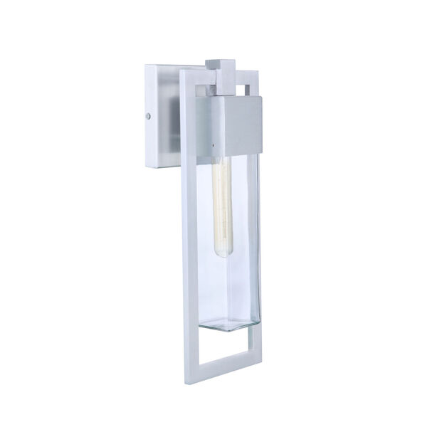 Perimeter Satin Aluminum 19-Inch One-Light Outdoor Wall Sconce, image 1
