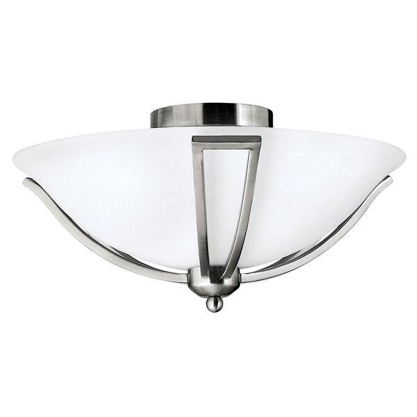 Bolla Brushed Nickel Flush Mount Ceiling Light, image 1