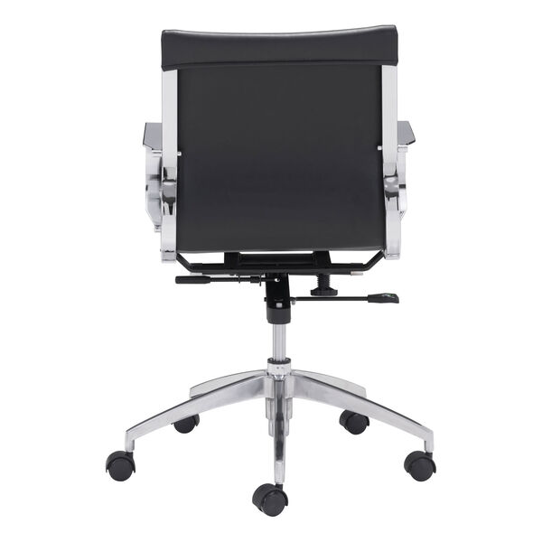 Glider Low Back Office Chair Black, image 4