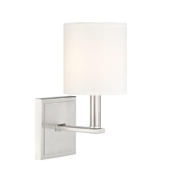 Waverly Satin Nickel One-Light Sconce, image 3