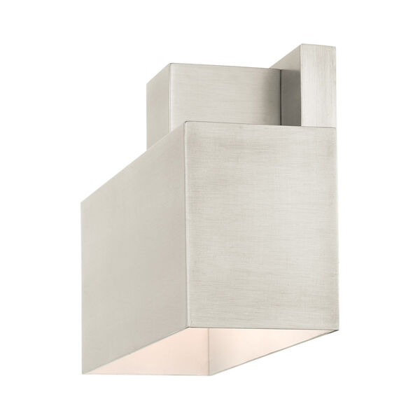 Lynx Brushed Nickel Nine-Inch One-Light Outdoor ADA Wall Sconce, image 6