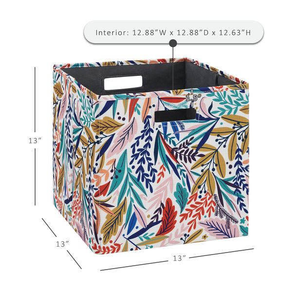 Liam Multicolor Floral Storage Bin, Pack of 2, image 6