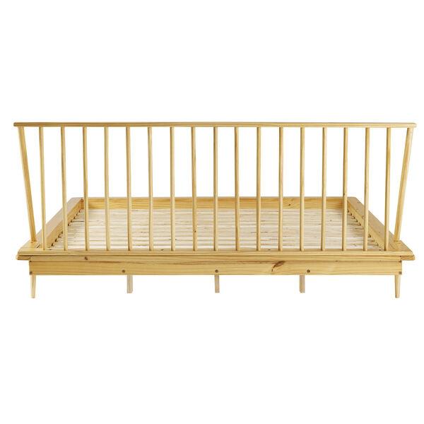 Light Oak Solid Wood Spindle Platform King Bed, image 5