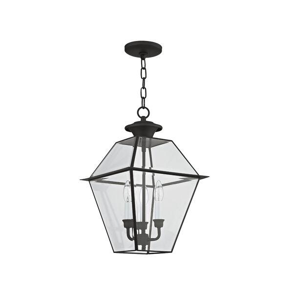 Westover Black Three-Light Outdoor Chain Hang, image 2