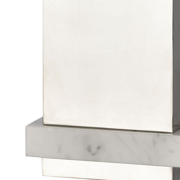 Keystone Silver and White One-Light Table Lamp, image 4