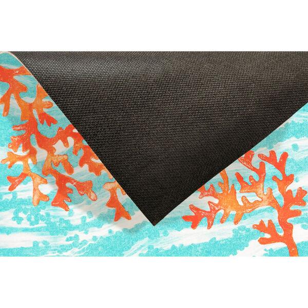 Liora Manne Illusions Aqua Coral Wave Indoor/Outdoor Floor Mat, image 5