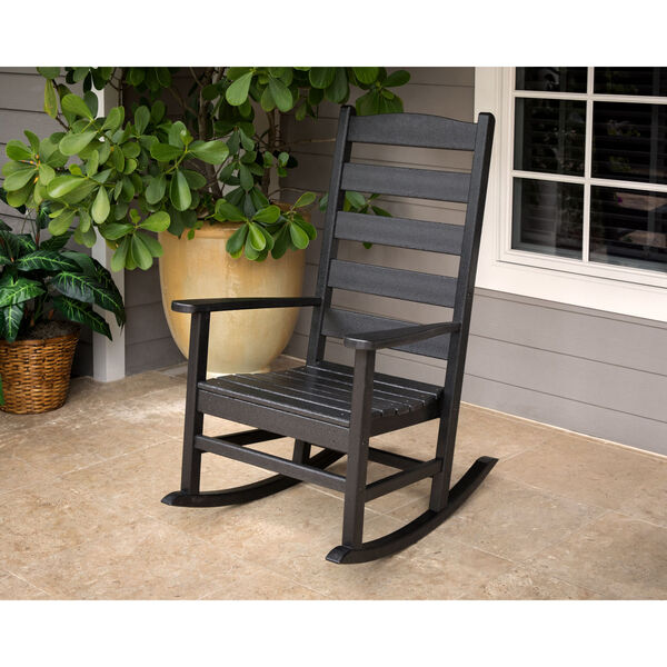Shaker White Porch Rocking Chair, image 2