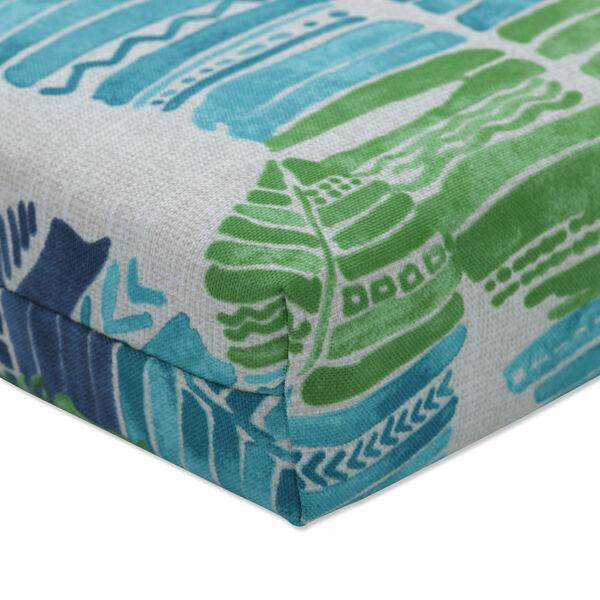 Hixon Blue Green Tan Bench Cushion, image 3