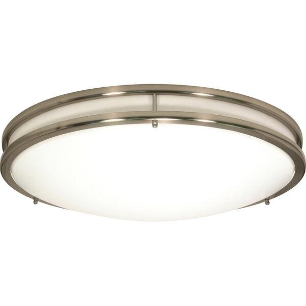 Glamour Brushed Nickel 10-Inch LED Flush Mount, image 1