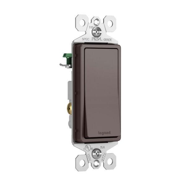 Dark Bronze 15A Single Pole Switch, image 1