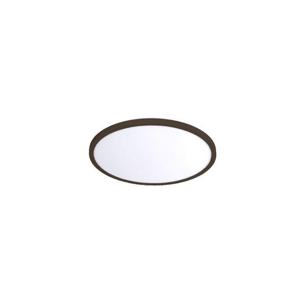 Bronze 7-Inch 3000K LED ADA Round Flush Mount, image 1
