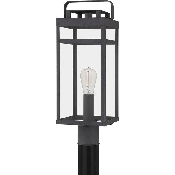 Keaton Mottled Black One-Light Outdoor Post Mount, image 2
