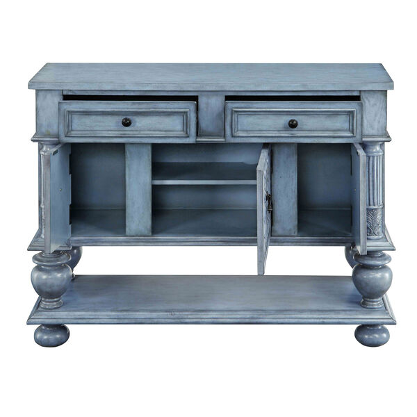 Blue Two Drawer Sideboard, image 2