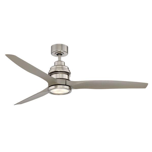 La Salle Satin Nickel LED Ceiling Fan, image 1