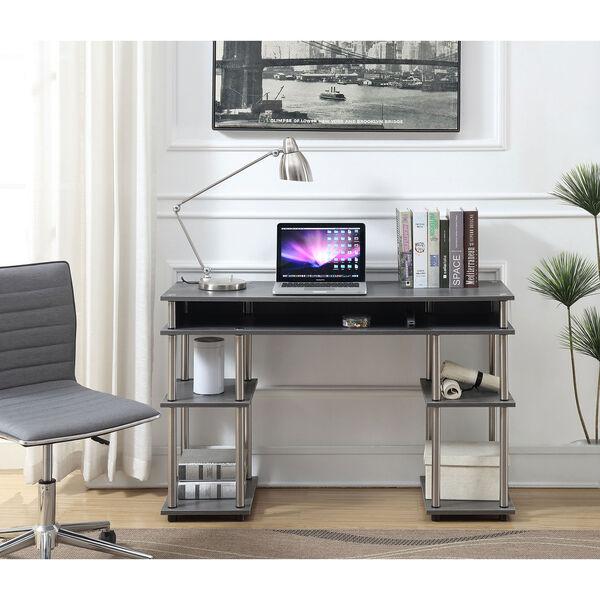 Designs2Go Charcoal Gray No Tools Student Desk, image 4