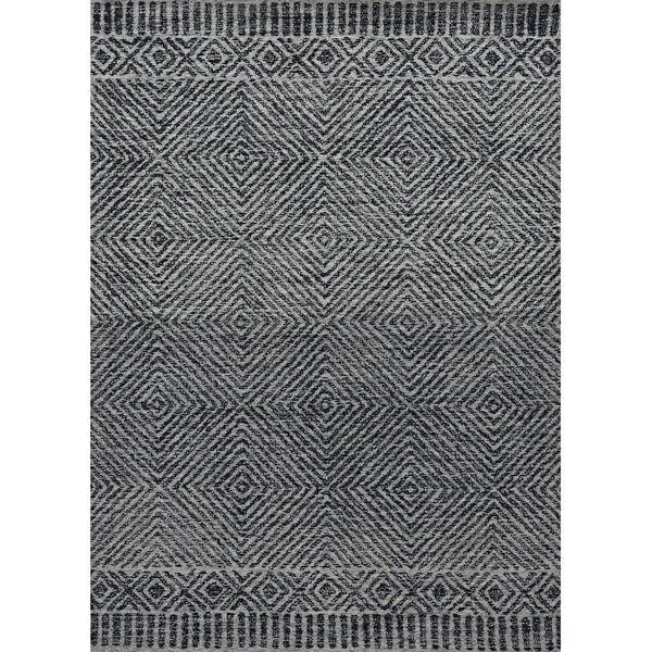 Hudson Gray and Black Rectangular: 5 Ft. x 7 Ft. Rug, image 1