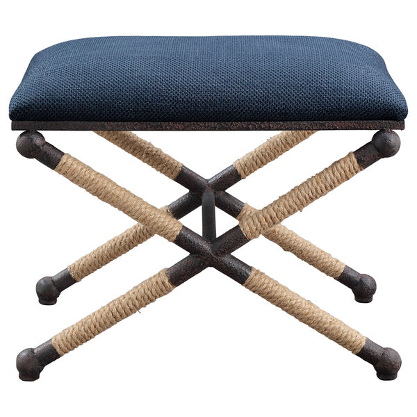 Firth Small Navy Blue Bench, image 1