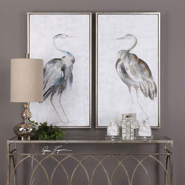Summer Birds Framed Art, Set of Two, image 1