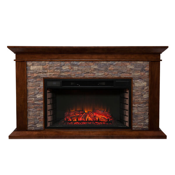 Canyon Whickey Maple Simulated Stone Electric Fireplace, image 4